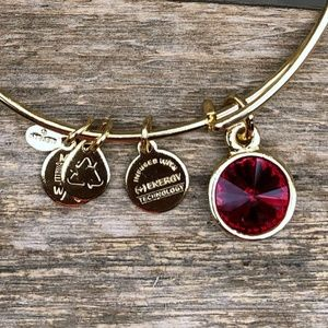 ALEX & ANI January Birthday {Bangle Bracelet} Red